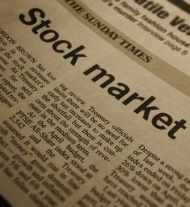 Stock Market Newspaper Headline
