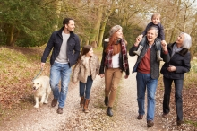 Multi-Generational Family on a Countryside Walk
