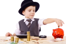 Child making investment decisions.